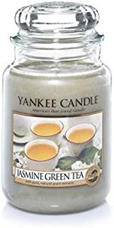 Yankee Candles Jasmine Green Tea Large Jar Candle,Fresh Scent