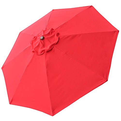 Yescom 8Ft 8 Ribs Patio Umbrella Replacement Canopy Outdoor Cover Top Color Optional