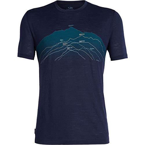 Icebreaker Herren Spector Seven Summits Merino T-Shirt, Midnight Navy, M