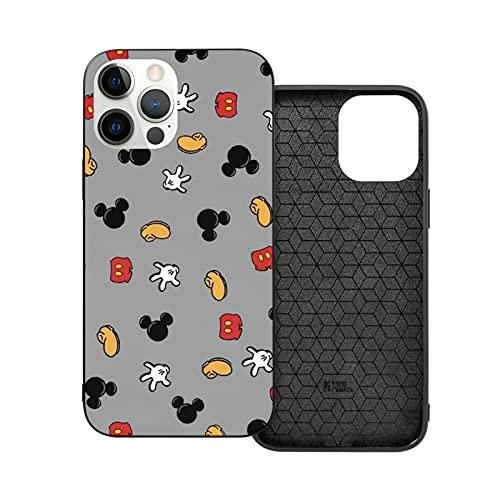 Funda para iPhone 12 Mickey Mouse antihuellas compatible con iPhone 12, compatible con iPhone 12 Pro 6.1/Max 6.7, funda linda y duradera