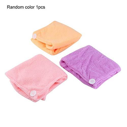 Womens Girls Lady Magic Quick Dry Bad Haare trocknen Handtuch Kopf wickeln Hut Make-up Kosmetik Kappe Bad Tool - Farbe zufällig