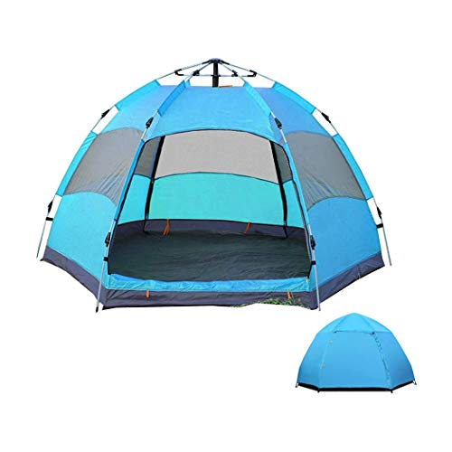 M STAR Tienda de campaña portátil para barco, gran espacio redondo, tienda de campaña automática a prueba de lluvia y a prueba de luz, fácil de instalar 240 x 240 x 130 cm, color azul