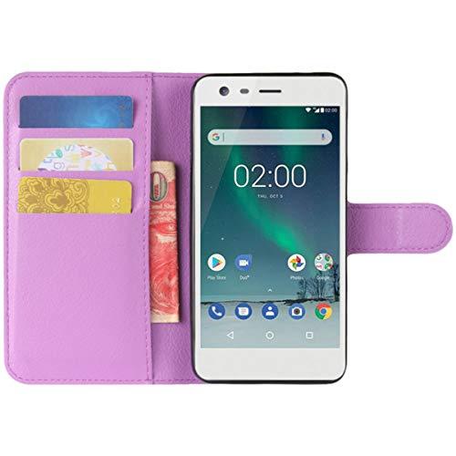 HualuBro Nexus 6P Hülle, Premium PU Leder Leather Wallet HandyHülle Tasche Schutzhülle Flip Hülle Cover mit Karten Slot für Huawei Google Nexus 6P 2015 Smartphone (Violett)