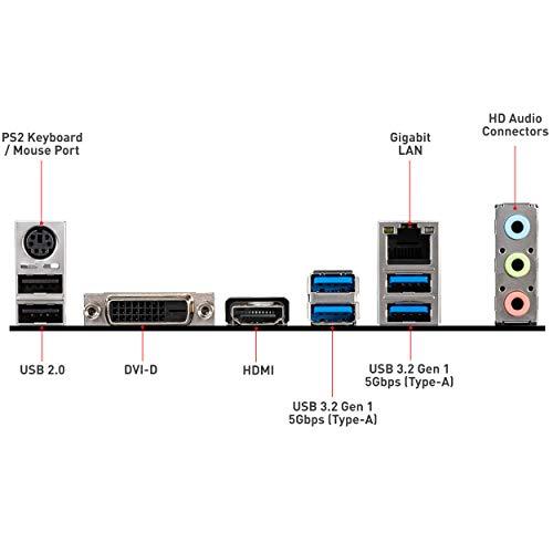 MSI MAG B460M Bazooka Gaming Motherboard (MATX, 10th Gen Intel Core, LGA 1200 Socket, DDR4, Dual M.2 Slots, USB 3.2 Gen 1, 2.5G LAN, DVI/HDMI)