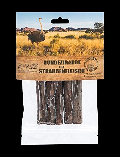 O´Canis Hunde-Zigarre aus Straussenfleisch 1x 5 Stück - New 2cm mehr Fleisch !