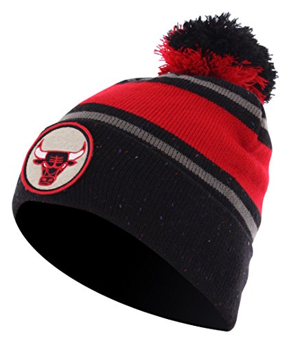 Mitchell And Ness - Bonnet Homme Chicago Bulls Speckled Cuff Knit - Black
