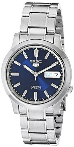 Seiko Reloj Análogo clásico para Hombre de Automático con Correa en Acero Inoxidable SNK793