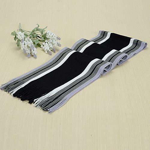 ShSnnwrl Wrap for Women Neatly Stitched Nueva Bufanda cálida de Invierno para Hombre, Bufanda de Negocios a Rayas clásica, Bufanda Larga de Punt