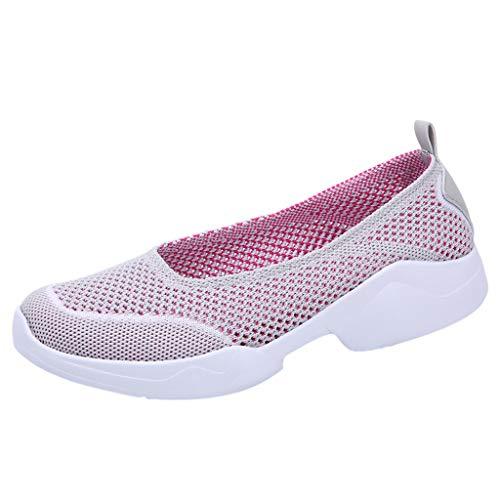 Zapatillas Deportivas para Mujer Verano 2019 Zapatos de Trabajo Antideslizantes Suaves Deporte Plataforma Malla Transpirable Zapatillas Aire Libre Mocasina Madre Casual 35-42 EU