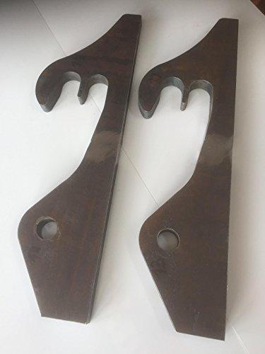 2 Stück (1Paar) Koppelhaken passend für Schäffer hydraulisch Radlader 40x32x280mm