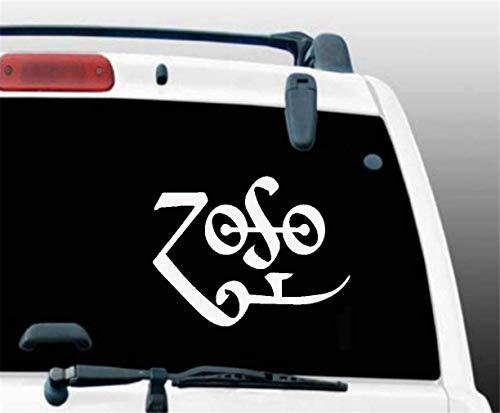 Car Decal Stickers Car Decal Car Sticker Zoso Symbol JDM Funny Vinyl Decal Sticker Window Bumper Laptop Tablet 12.7Cm