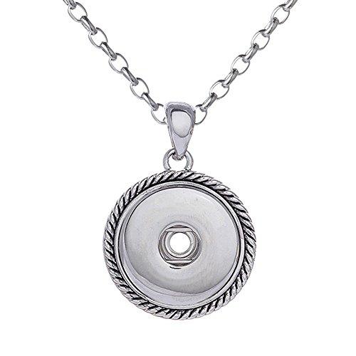Morella Damen Halskette Edelstahl 50 cm oder 70 cm im Maritim Look mit Click-Button Träger für Click-Button Druckknöpfe in Samtbeutel
