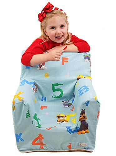 Sillón o asiento infantil de espuma para bebés y niños. Varios modelos y colores disponibles. (La Patrulla Canina)