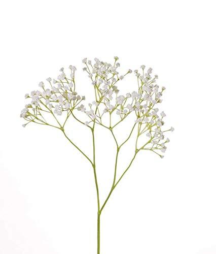 Set de 3 x Gypsophila paniculata Artificial Celine, Blanco, 60cm, Ø1cm - Ramo de paniculata/Flor Velo de Novia - artplants