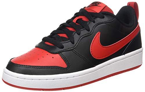 Nike Court Borough Low 2 (GS), Scarpe da Basket, Black/Univ Red-White, 36 EU