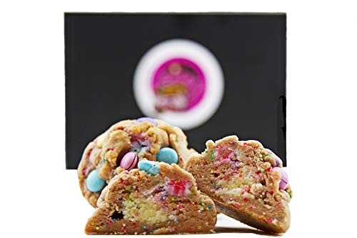 Baby g's Cookies Happy Birthday Gourmet Cookie Gift Basket Desserts for Delivery-Fresh Baked Food Gift Box 2 Lb. Individually Wrapped Stuffed, M & M's Celebration Corporate Families'