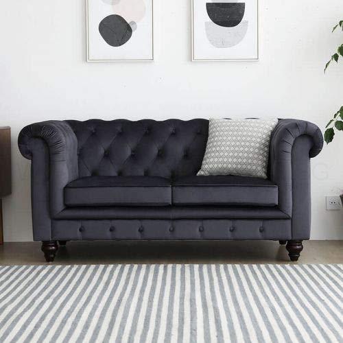 JVmoebel Sofa Luxus Textil Chesterfield Couch Sofas Polster 2 Sitzer Zweisitzer Couchen
