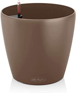 Lechuza Classico Color 28 Self-Watering Garden Planter for Indoor and Outdoor Use, Nutmeg Matte