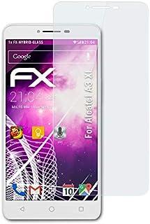 atFoliX Plastglasskyddsfilm är kompatibel med Alcatel A3 XL Glasskydd, 9H hybridglas FX Skyddsglas av plast