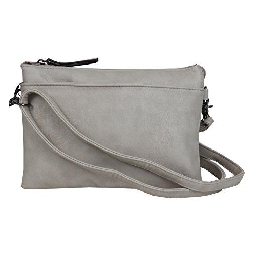 Casa di Nova Fashion Reißverschlusstasche grey