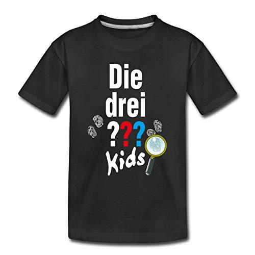 Die DREI Fragezeichen Kids Logo und Gadgets Kinder Premium T-Shirt, 134-140, Schwarz