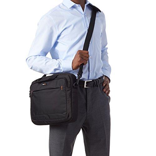 AmazonBasics Laptop-, Macbook- und Tablet-Schultertasche, für Laptops bis zu 14 Zoll (35,6 cm), Schwarz, 1 Stück - 3