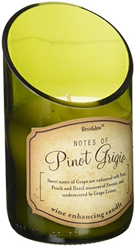 Zings & Thingz 57074304 Pinot Grigio Wine Scented Candle, Green