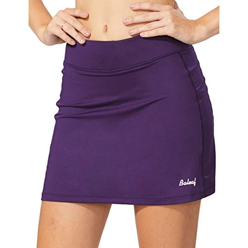 BALEAF Women's Athletic Skorts Lightweight Active Skirts with Shorts Pockets Running Tennis Golf Workout Sports Purple Size M