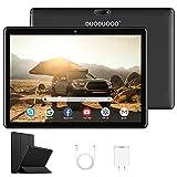 4G Tablet 10.1 Pulgadas Android 10.0 Quad Core 3GB RAM 32GB ROM/Escalable a 128 GB DUODUOGO G10 Tableta 4G Batería 8500mAh Bluetooth WiFi GPS Tablet PC Doble SIM/Cámara 8MP y 5MP (3GB+32GB, Negro)