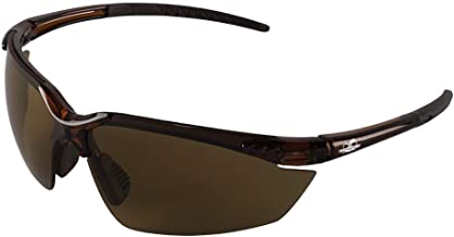 Bullhead Safety Eyewear BH11711 Marlin, Crystal Brown Frame, Brown Polarized Lens, Brown TPR Nose and Temple (1 Pair)