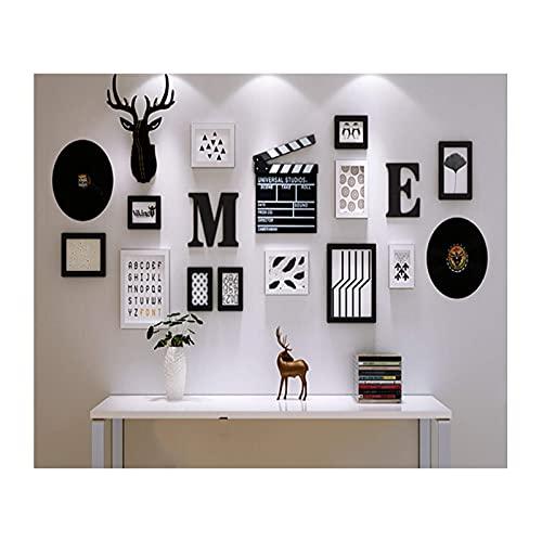 NC Marco de Imagen de Collage, fotografía y Pared, para galería, Comedor, Dormitorio y Sala de Estar, con Plantilla para Colgar, diseño de Montaje en Pared LKWK