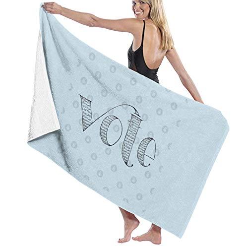 U/K Vote 12 Toalla de baño de secado rápido
