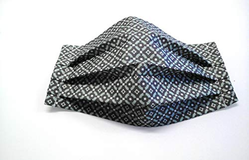 Behelfs Nasen Mund Bedeckung Alltagsmaske mit Nasenbügel mit Muster waschbar