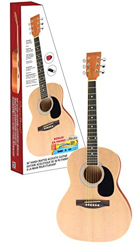 Spectrum 6 String Acoustic Guitar, Right, Natural (AIL 36S)