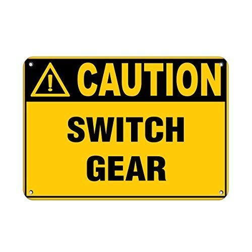 mengliangpu8190 Danger Switch Box Cover Must Be Closed at All Times Aluminum Metal Sign 12