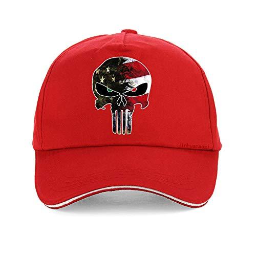 QIANWEIXI Baseball Cap Herren Herrenmütze Punisher Skull Navy Seal Team Baseballmützen Fashion Flag Camo Verstellbarer Hut Snapback-Farbe: _6
