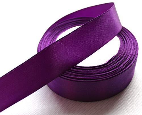 CaPiSo® 22m Satinband 25mm Breite 2,5cm Schleifenband Geschenkband Dekoband Weihnachten Hochzeit (Lila, 22m)