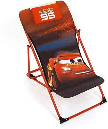 Disney Cars WD11962 Gartenstuhl, verstellbar, faltbar, für Kinder, Lizenzprodukt Cars 3, Metall und Stoff, Maße: 43 x 66 x 61 cm, 61 x 43 x 66 cm