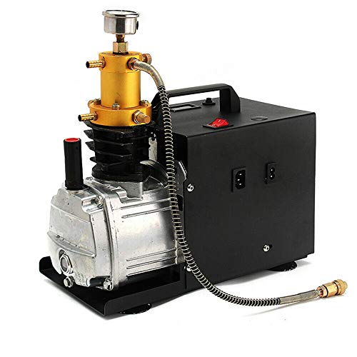 Compresor de aire eléctrico, 300 bar, 4500 psi, bomba de aire de alta presión, para automóviles, botella de buceo, botella industrial