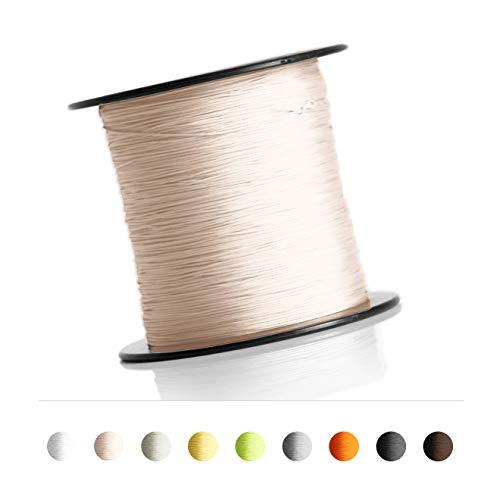 Schnur für Plissee, Rollo, Jalousette 0,8 mm Spannschnur Plisseeschnur zubehör (Creme, 10 Meter)
