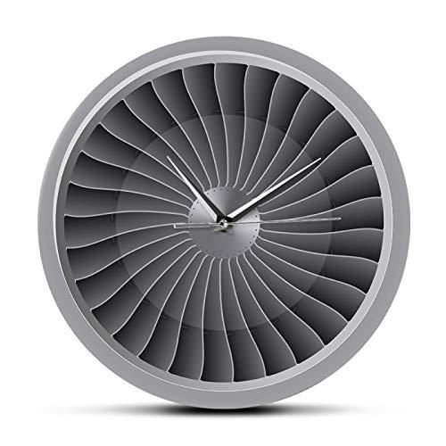 gongyu Motor a reacción, Ventilador de turbina, Reloj de Pared de aviación, avión, Arte Moderno de Pared, Reloj de aviación, decoración del hogar, Obra de Arte a reacción, Reloj de Pared piloto