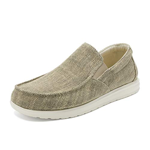 Bruno Marc Men's Beige Slip On Loafer Walking Shoes Stretch Sneakers SUNVENT-01 Size 12 M US