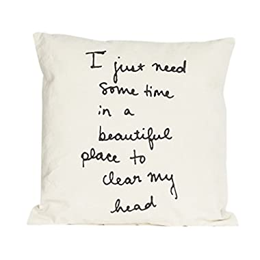 Flamant Oase Printed 20  X 20  Accent Pillow, White