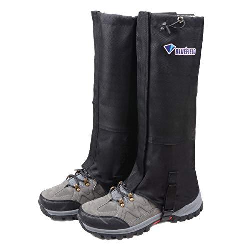 TRIWONDER Leg Gaiters Waterproof Snow Boot Gators Hiking Gaiters Men Women for Walking Climbing Hunting Cycling Backpacking Lightweight Rain Shoe Gaiters (1 Pair) (Black, M)