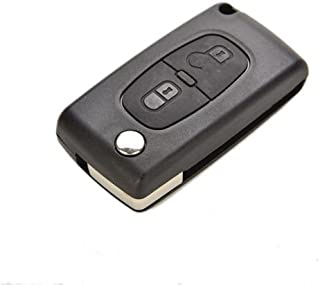 AuCatStore(TM) Remote Flip 2 Buttons Key Shell Case Replacement for Peugeot 207 307 308 fEP