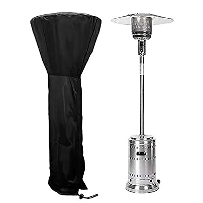 Generies Patio Heater Cover Waterproof with Zipper Outdoor Stand Up Storage Cover for Round Dome Heaters (H89XD33x19 inch)