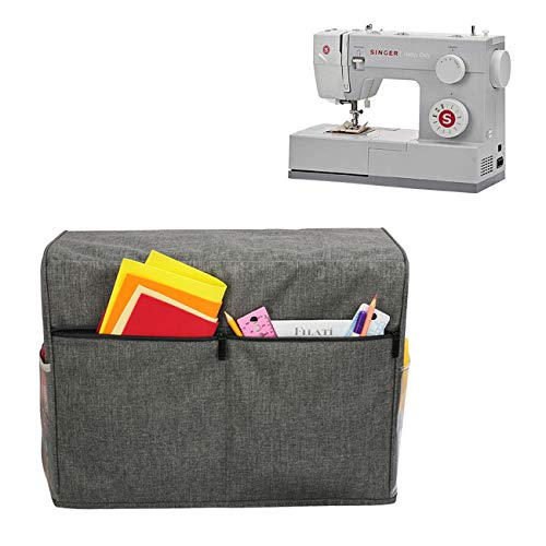Buy Discount gotor Sewing Machine Cover, Nylon Dust Cover with Pockets, Compatible with Most Standar...