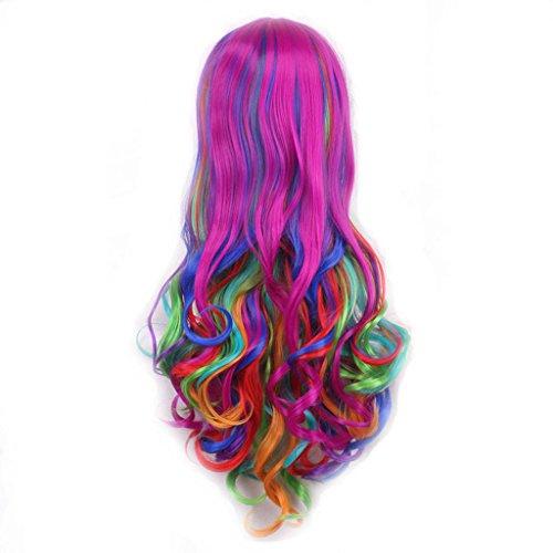 Sharplace Perruque Cheveux Femme Costume Fantaisie Cheveux Long Ondulé Synthétique Élégant