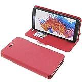 foto-kontor Tasche für TP-Link Neffos C7 Lite Book Style rot Schutz Hülle Buch