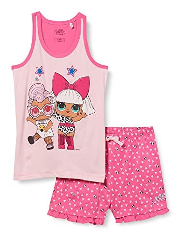 Cerdá Pijama LOL Surprise Corto para Niña de Color Rosa Juego, 8 años para Niñas